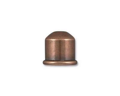 TierraCast Antique Copper (plated) Cupola 10mm Cord End 12x13mm