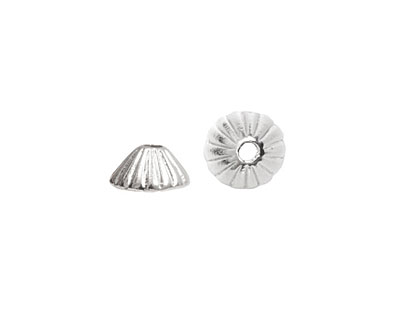 Nunn Design Sterling Silver (plated) Limpet Bead Cap 5x11mm