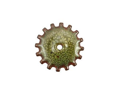 C-Koop Enameled Metal Olive Closed Gear 19mm