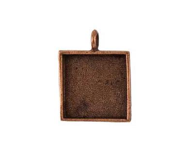 Nunn Design Antique Copper (plated) Large Square Bezel Pendant 26x34mm