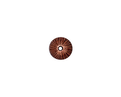 TierraCast Antique Copper (plated) Radiant Dome Bead Cap 6x9mm