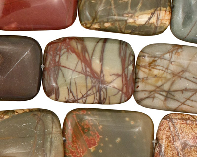 Red Creek Jasper Thin Pillow 25x18mm