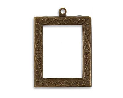 Vintaj Natural Brass Alter-It Frame Set Frame 24x30mm