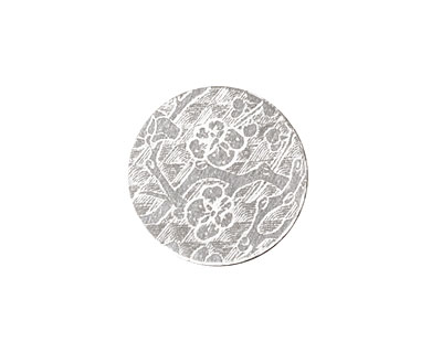 Lillypilly Silver Cherry Blossom Anodized Aluminum Disc 19mm, 22 gauge