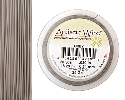 Artistic Wire Grey 24 gauge, 20 yards
