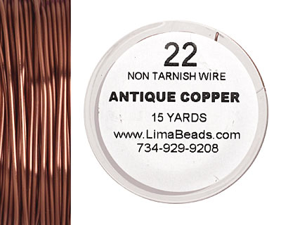 Parawire Antique Copper 22 gauge, 15 yards