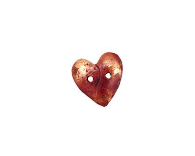 Patricia Healey Copper 2 Hole Heart Button 12mm
