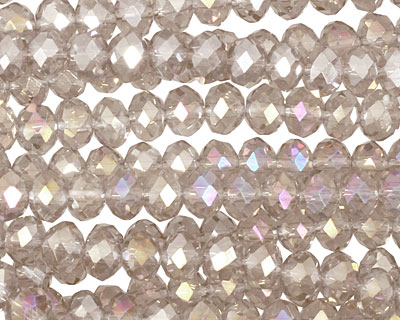 Antique AB Crystal Faceted Rondelle 6mm