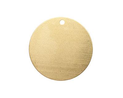 Brass Circle Blank Tag 31mm