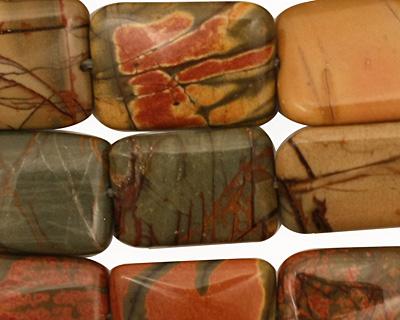 Red Creek Jasper Thin Pillow 18x13mm