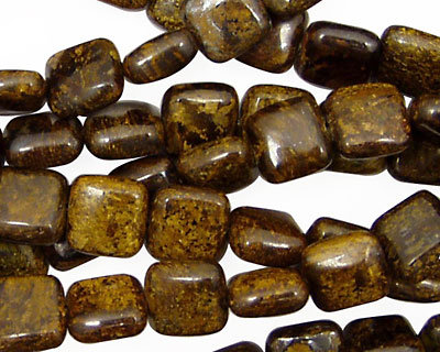 Bronzite Puff Square 8mm
