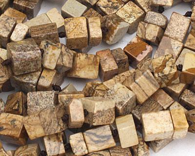 Picture Jasper Irregular Cube 5-12x9-10mm
