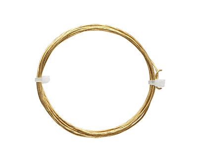 German Style Wire Non Tarnish Brass Twist Pattern Round 18 gauge, 1.5 meters