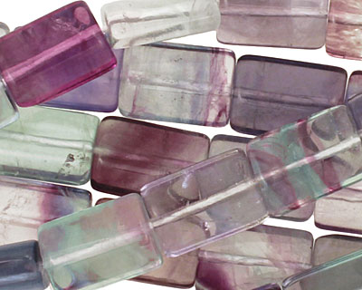 Rainbow Fluorite (A) Thin Pillow 14x10mm