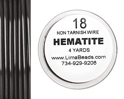 Parawire Hematite 18 gauge, 4 yards