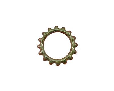 C-Koop Enameled Metal Olive Small Open Gear 16mm