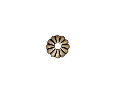 TierraCast Antique Brass (plated) Large Hole Joy Bead Cap 3x9mm