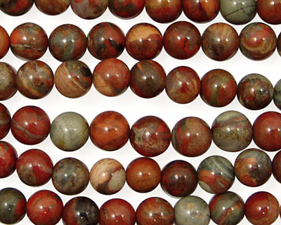 Gray Rainbow Jasper Round 6mm