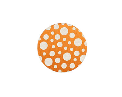 Lillypilly Orange Scattered Dots Anodized Aluminum Disc 19mm, 24 gauge