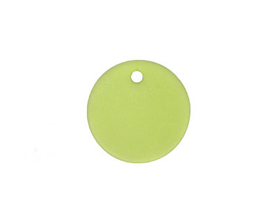 Olive Recycled Glass Concave Coin 18mm
