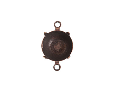 Nunn Design Antique Copper (plated) Circle Prong Setting 18x12mm