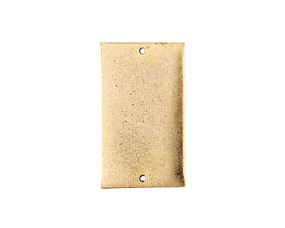 Nunn Design Antique Gold (plated) Flat Grande Rectangle Tag Link 37x21mm