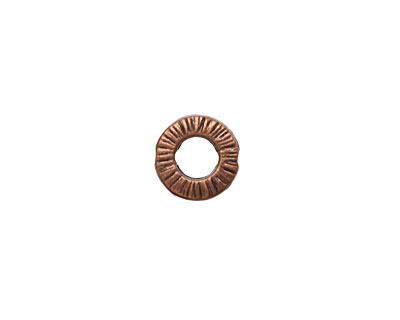 Antique Copper (plated) Textured Ring 10mm