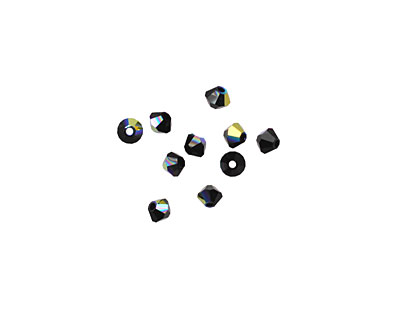 Swarovski Jet AB Faceted Bicone 3mm (5301)