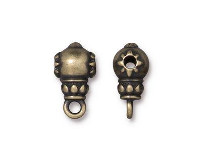 TierraCast Antique Brass (plated) Lotus Guru Style Bail 9x16mm
