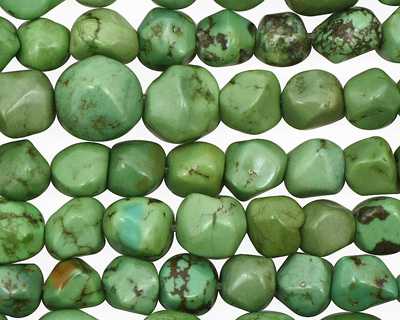 Apple Green Turquoise Graduated Tumbled Nugget 5-10mm