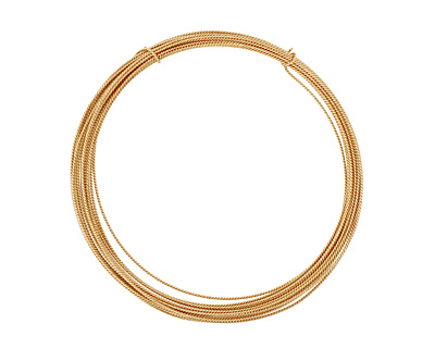 German Style Wire Non Tarnish Brass Fancy Round 21 gauge, 4 meters