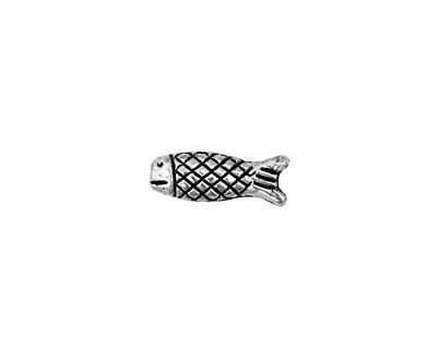 Pewter Criss Cross Fish 15x6mm