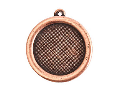 Nunn Design Antique Copper (plated) Framed Small Circle Pendant 29x26mm