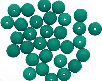Czech Glass Dark Neon Emerald Round 6mm