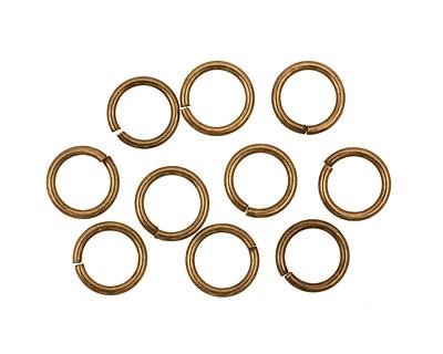 Antique Brass (plated) Round Jump Ring 8mm, 18 gauge