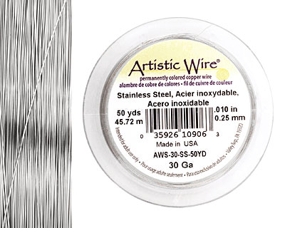 Artistic Wire Stainless Steel 30 gauge, 50 yards