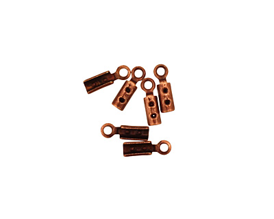 Antique Copper (plated) Foldover Crimp End 8x2.5mm
