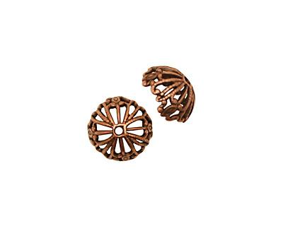Stampt Antique Copper (plated) Nouveau Bead Cap 10x5mm