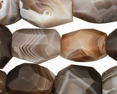 Botswana Agate Faceted Nugget 12-21x13-16mm