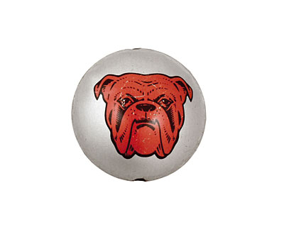Trinket Foundry Red Dog Bottle Cap Puff Coin 22mm