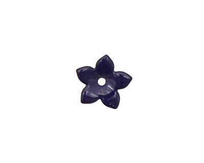 C-Koop Enameled Metal Dark Blue Small 5 Petal 12mm