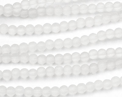 Crystal Recycled Glass Round 4mm
