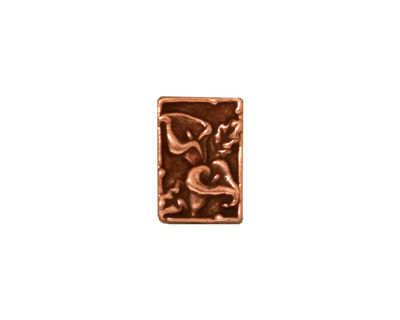 TierraCast Antique Copper (plated) Calla 2-Hole Bar 10x14mm