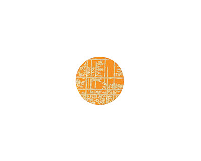 Lillypilly Orange Bamboo Anodized Aluminum Disc 11mm, 24 gauge