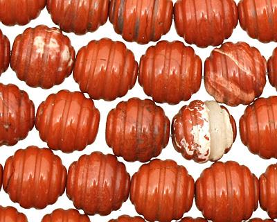 Red Jasper Carved Round 12mm