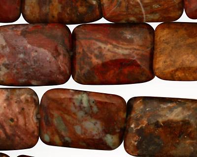 African Rainbow Agate Thin Pillow 20x15mm