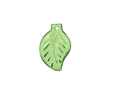 Lucite Transparent Bottle Mini Birch Leaf 12x18mm