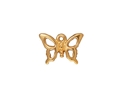 TierraCast Gold (plated) Petro Butterfly Charm 15x19mm