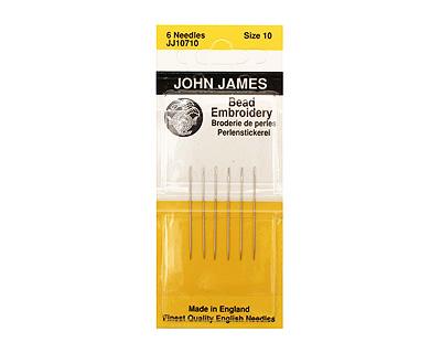 John James Size 10 English Bead Embroidery Needles