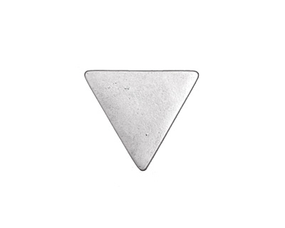 Zola Elements Antique Silver (plated) Triangle 7mm Flat Cord Slide 19x17mm